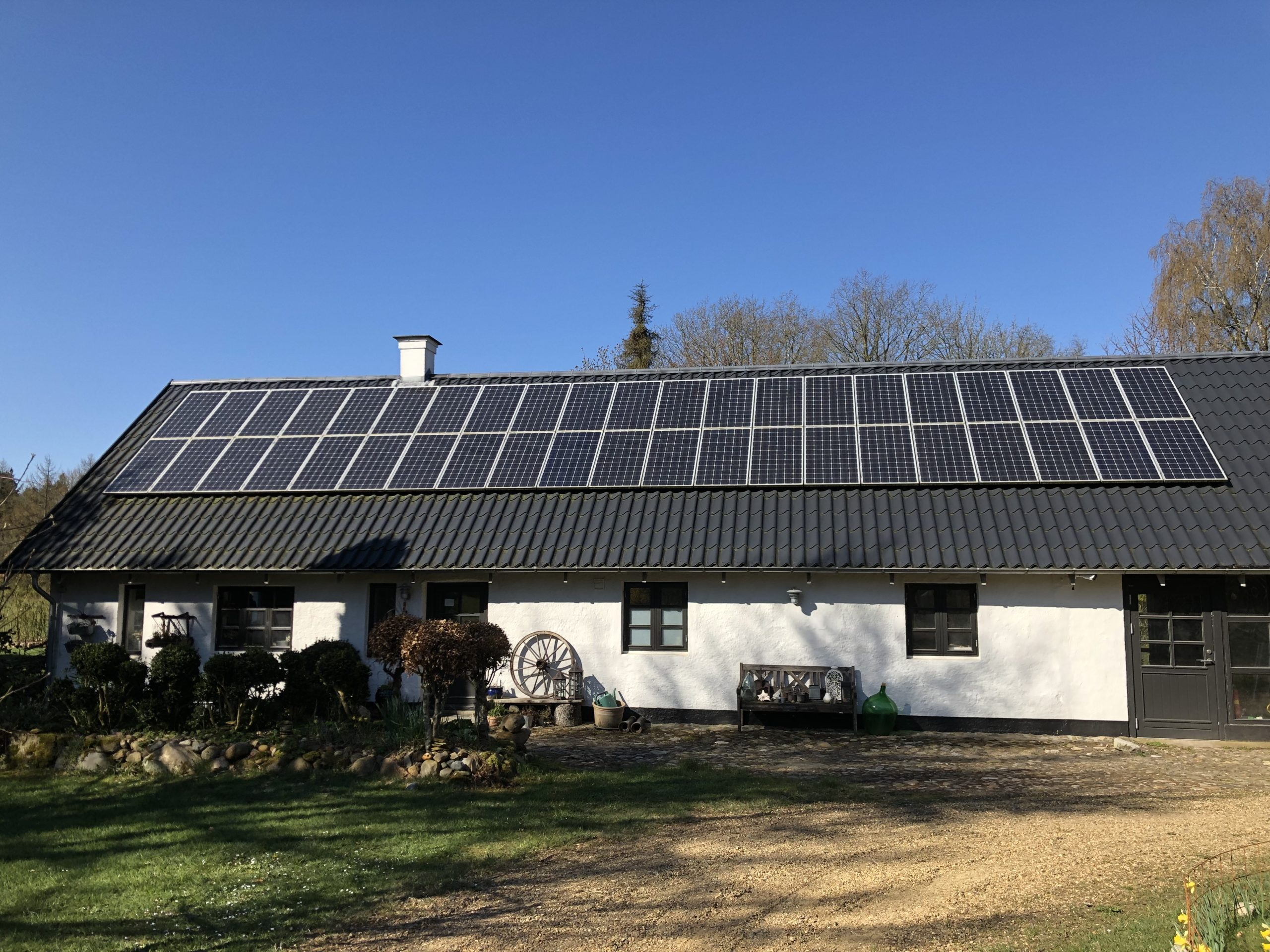 Se solcellernes bidrag til Danmarks strømproduktion